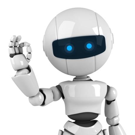robot en schadelijke bacterie